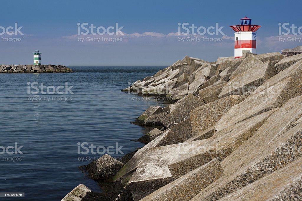 harbour mit Leuchttürme Lizenzfreies stock-foto