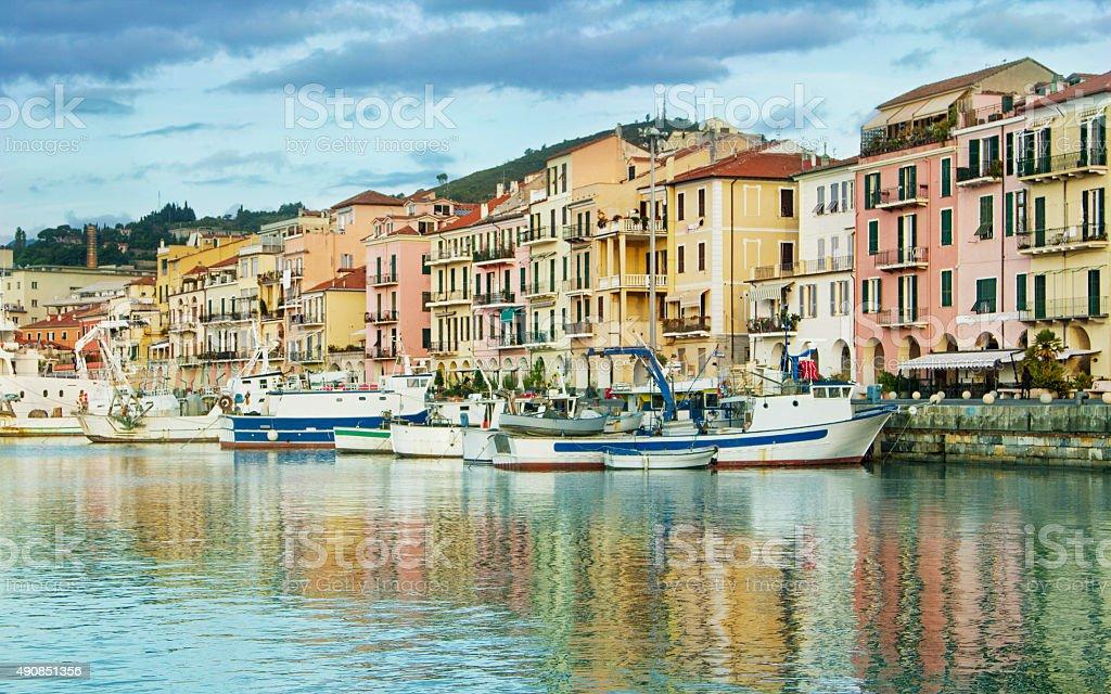 Harbourside, Italian Riviera stock photo