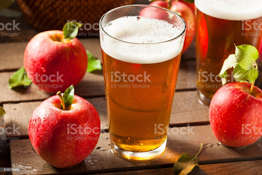 Hard Apple Cider Ale stock photo