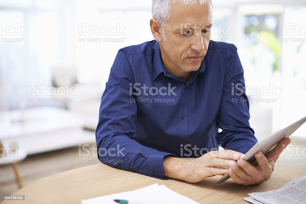 Hard at work even at home stock photo