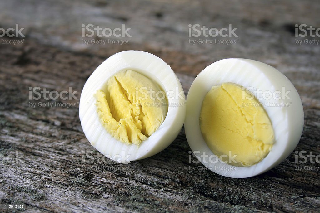 Hard Boiled Egg stock photo