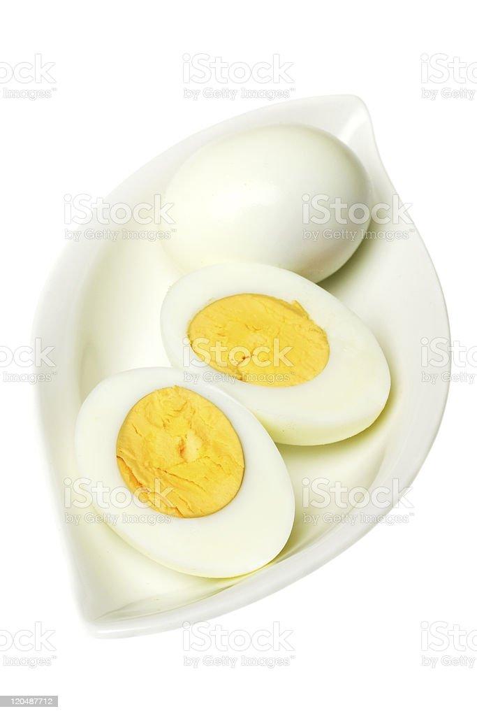 Hard boiled eggs stock photo