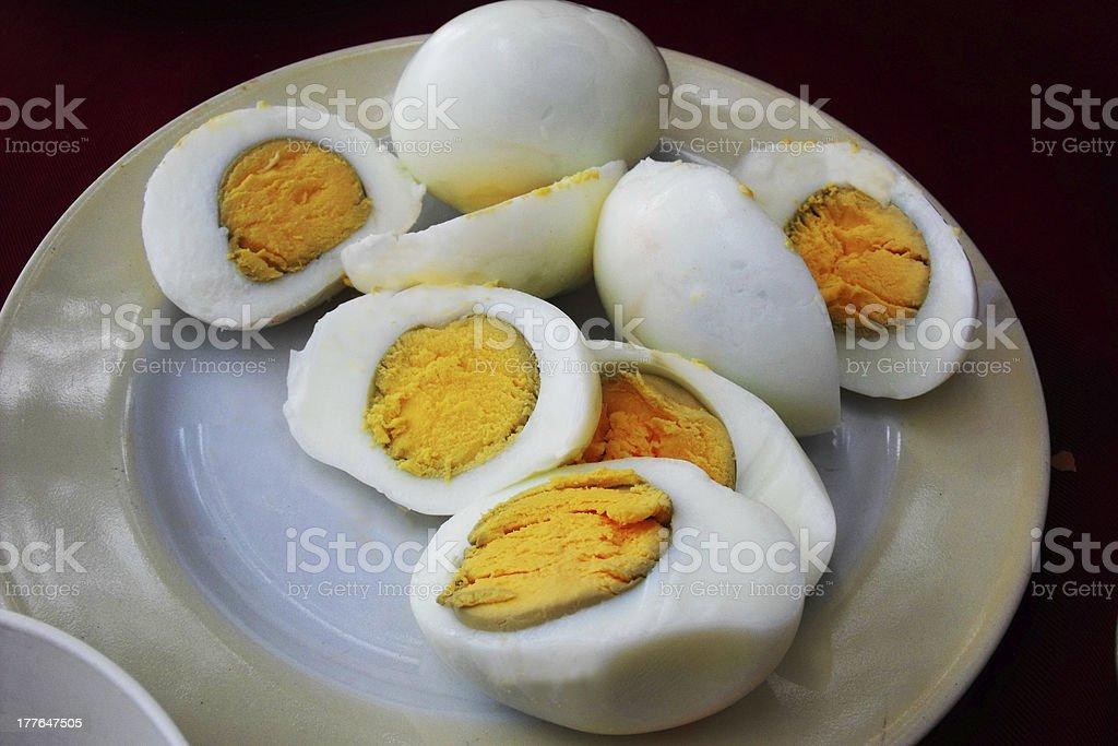 hard boiled eggs royalty-free stock photo