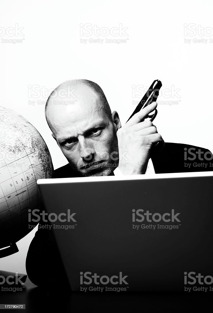 hard business man royalty-free stock photo