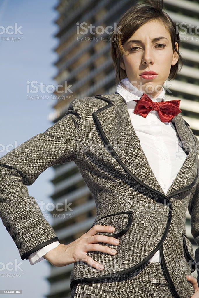Hard businesswoman royalty-free stock photo