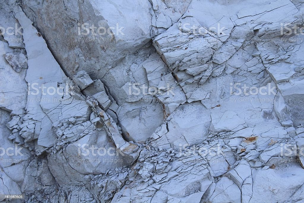 Hard but scattering rock stock photo