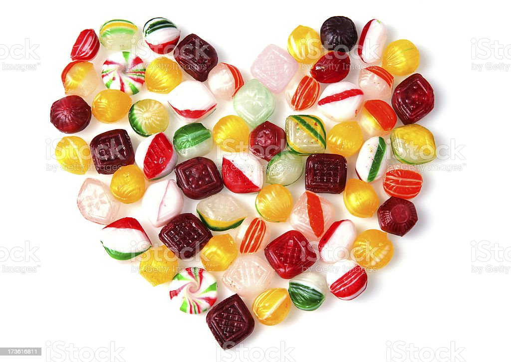 Hard Candy Heart royalty-free stock photo