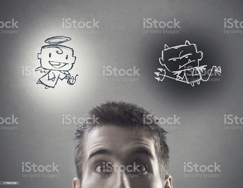 Hard choice stock photo