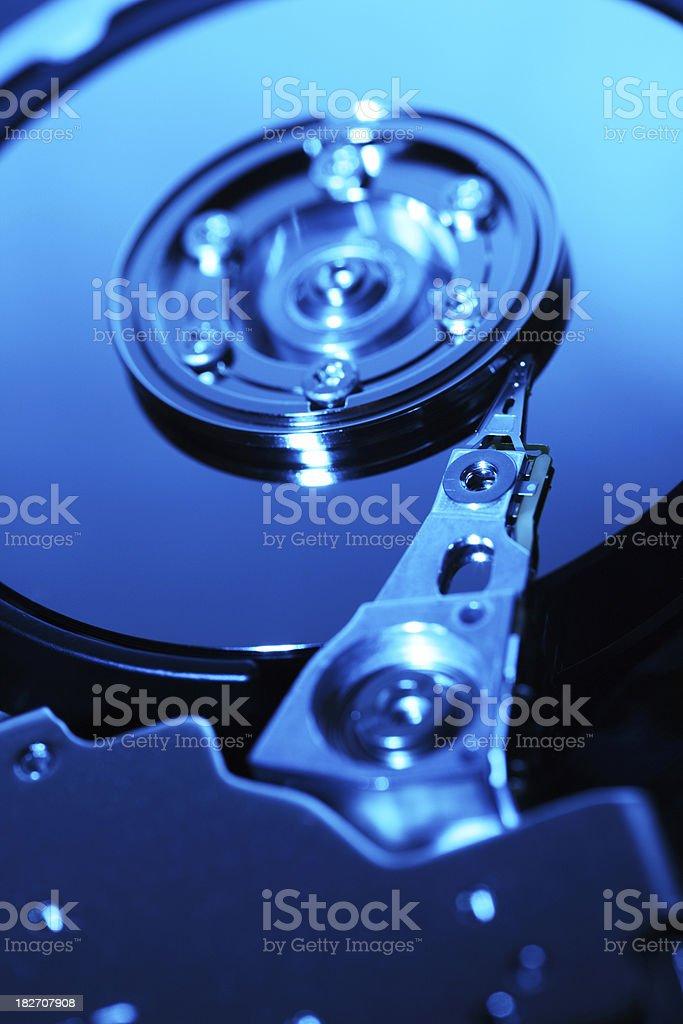 Hard Disc Drive Close Up royalty-free stock photo