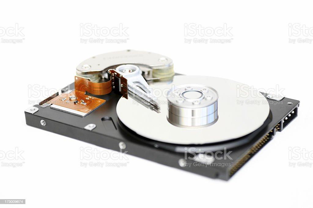 Hard disc on white stock photo