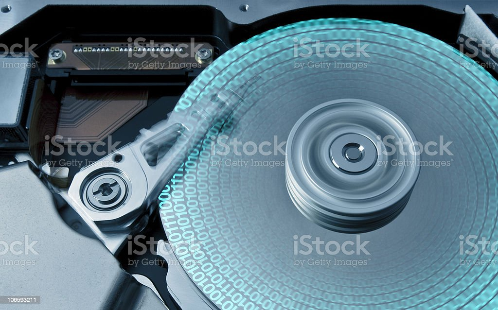 hard disk and data royalty-free stock photo