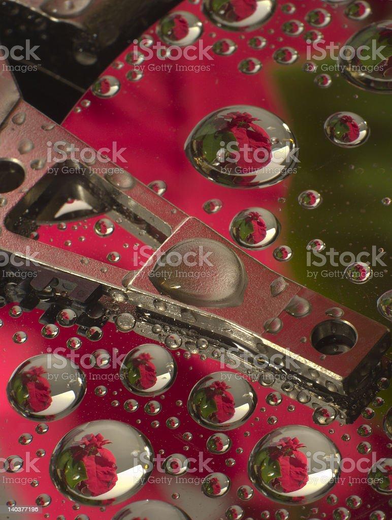 Hard disk close up royalty-free stock photo