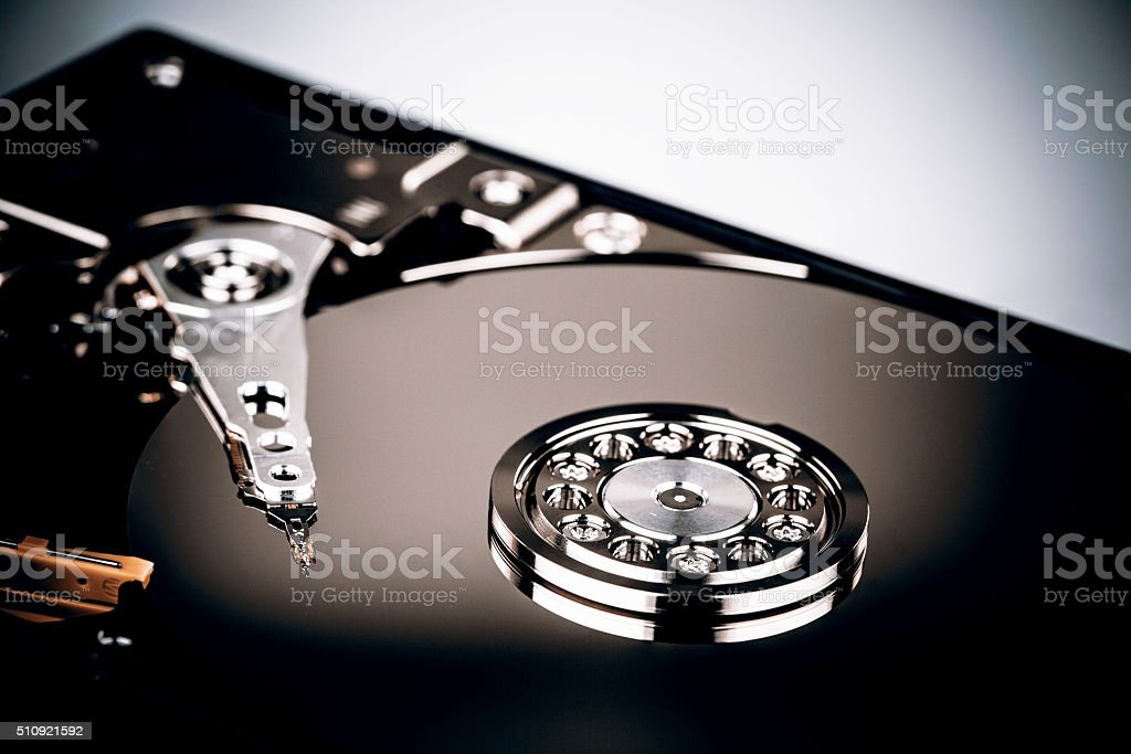 Hard disk drive HDD isolated on white background stock photo