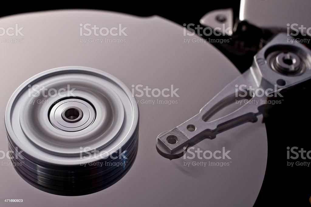 hard disk drive in motion  (zero-seven) royalty-free stock photo