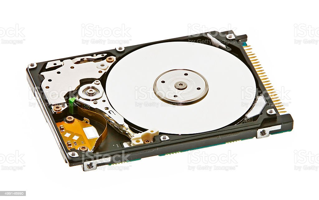 Hard Disk Drive opend stock photo