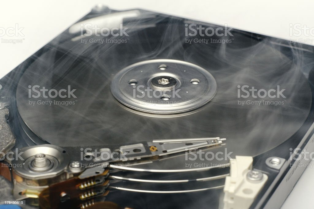 hard disk drive overheating royalty-free stock photo