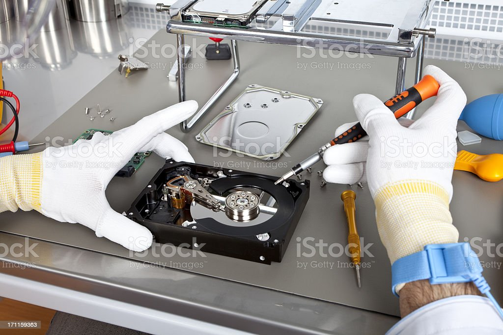 Hard Disk Drive Service stock photo