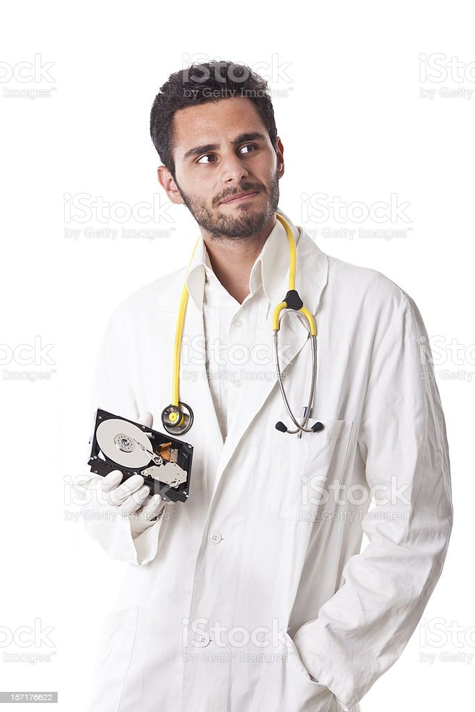 Hard Disk Healthcare royalty-free stock photo