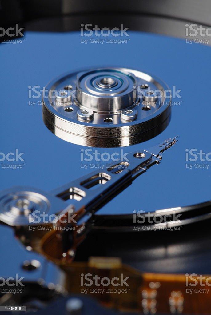 Hard disk macro royalty-free stock photo