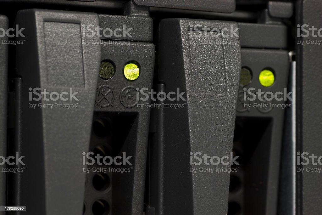 Hard disk macro stock photo