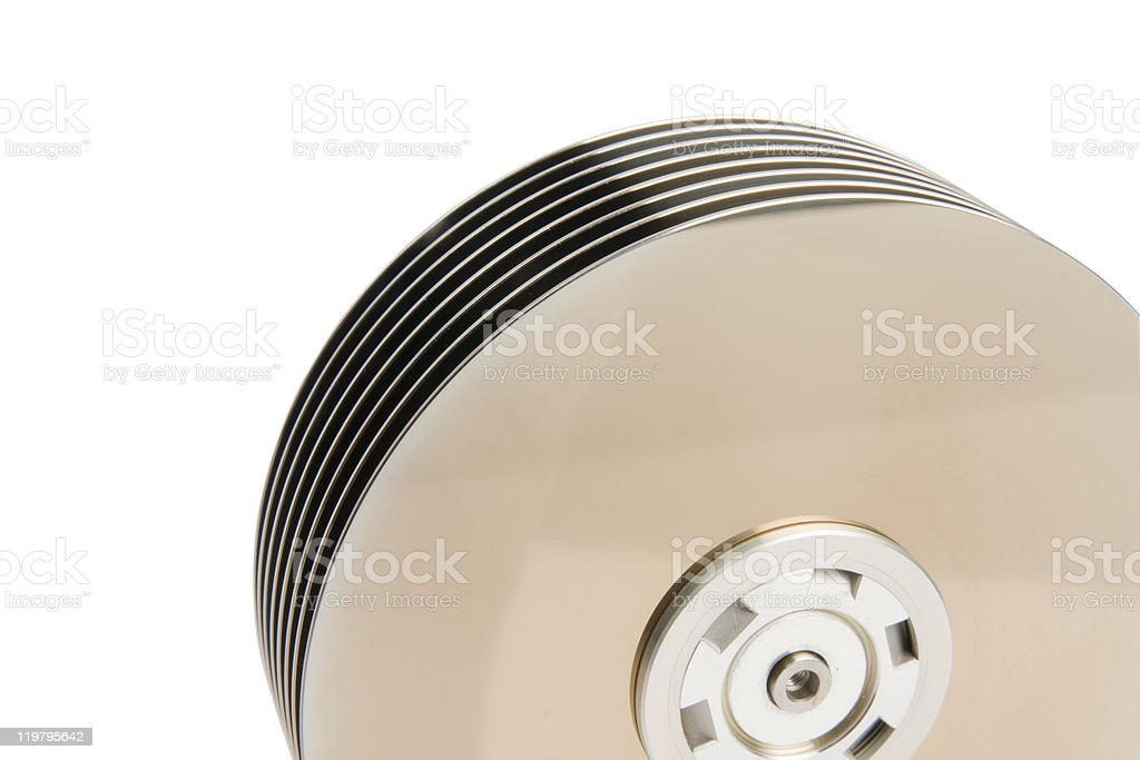 Hard Disk Platters stock photo