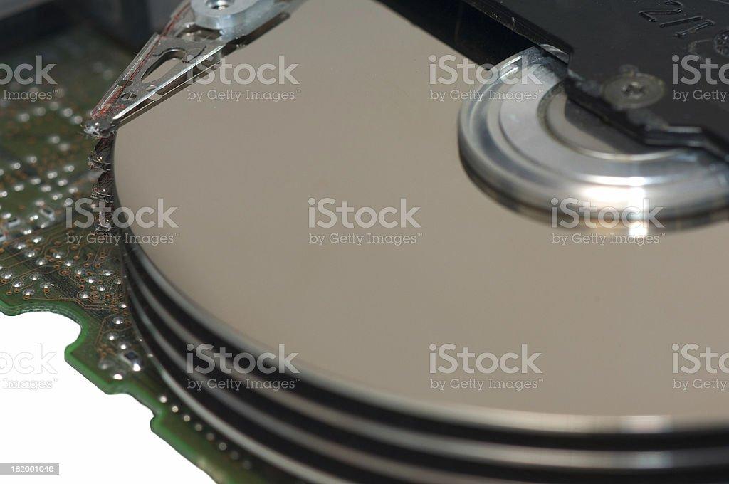 hard disks, closeup royalty-free stock photo