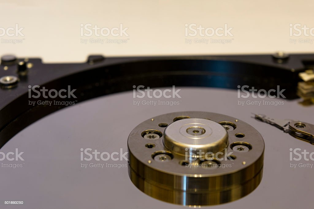 Hard drive bracket stock photo