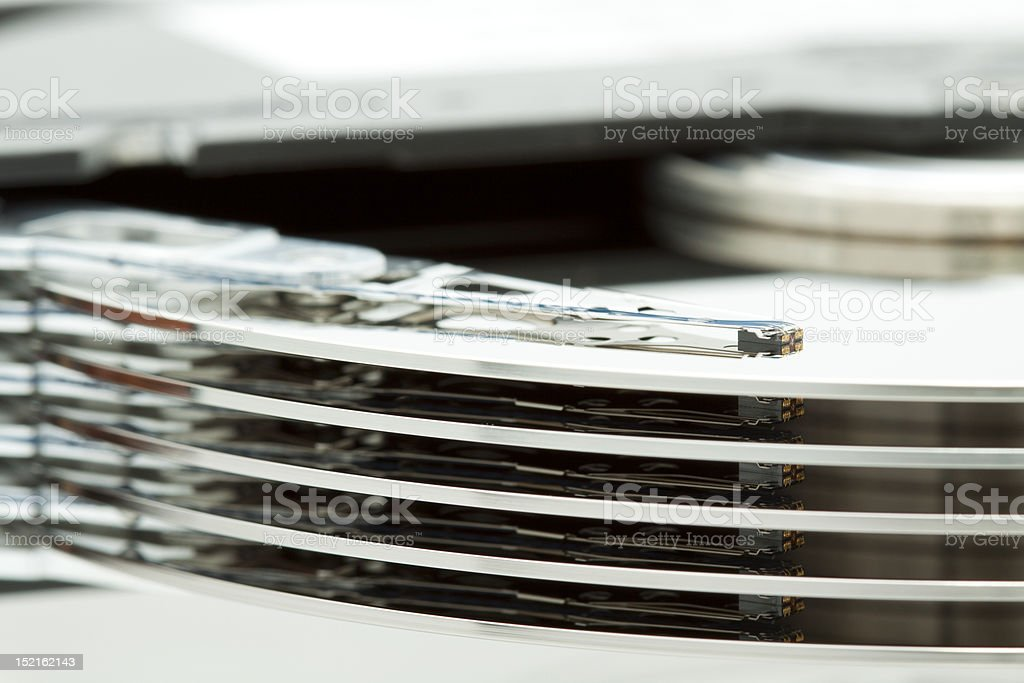 SCSI hard drive disk stock photo