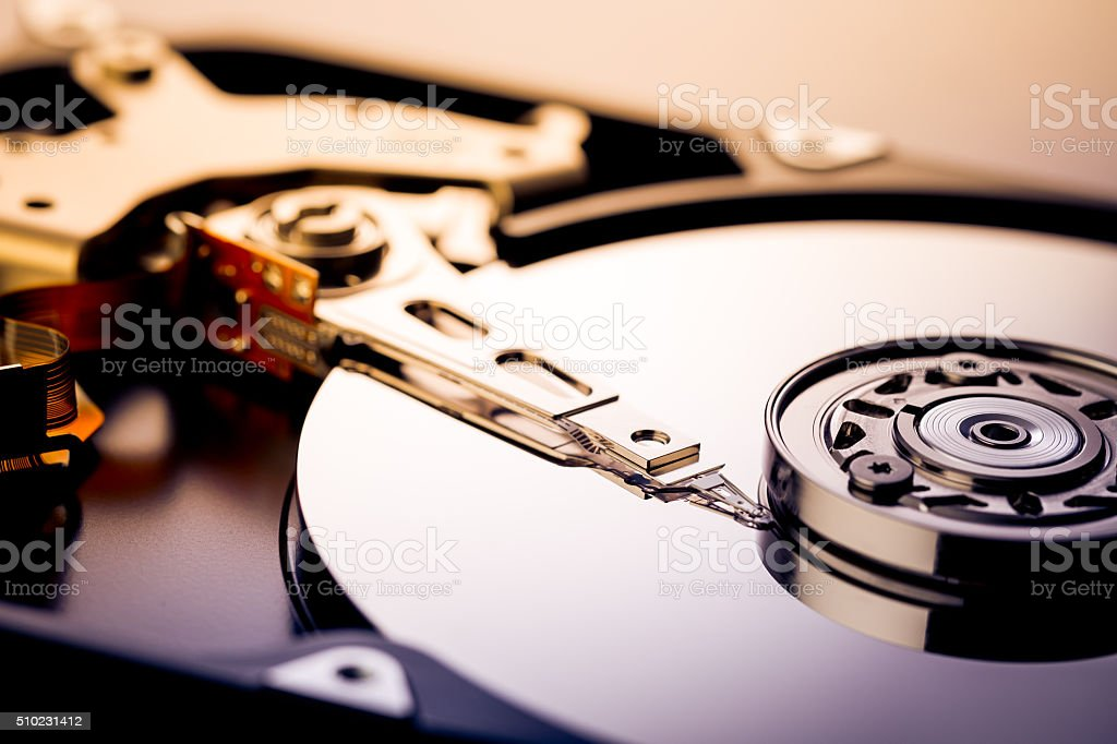 Hard Drive Disk stock photo