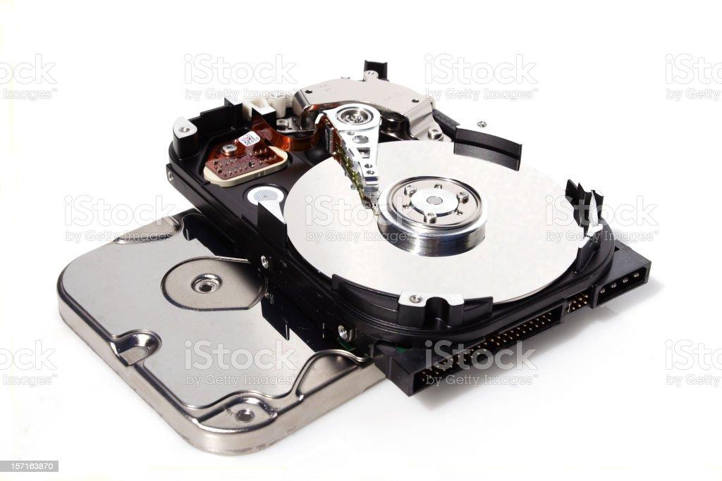 hard drive display, repair royalty-free stock photo