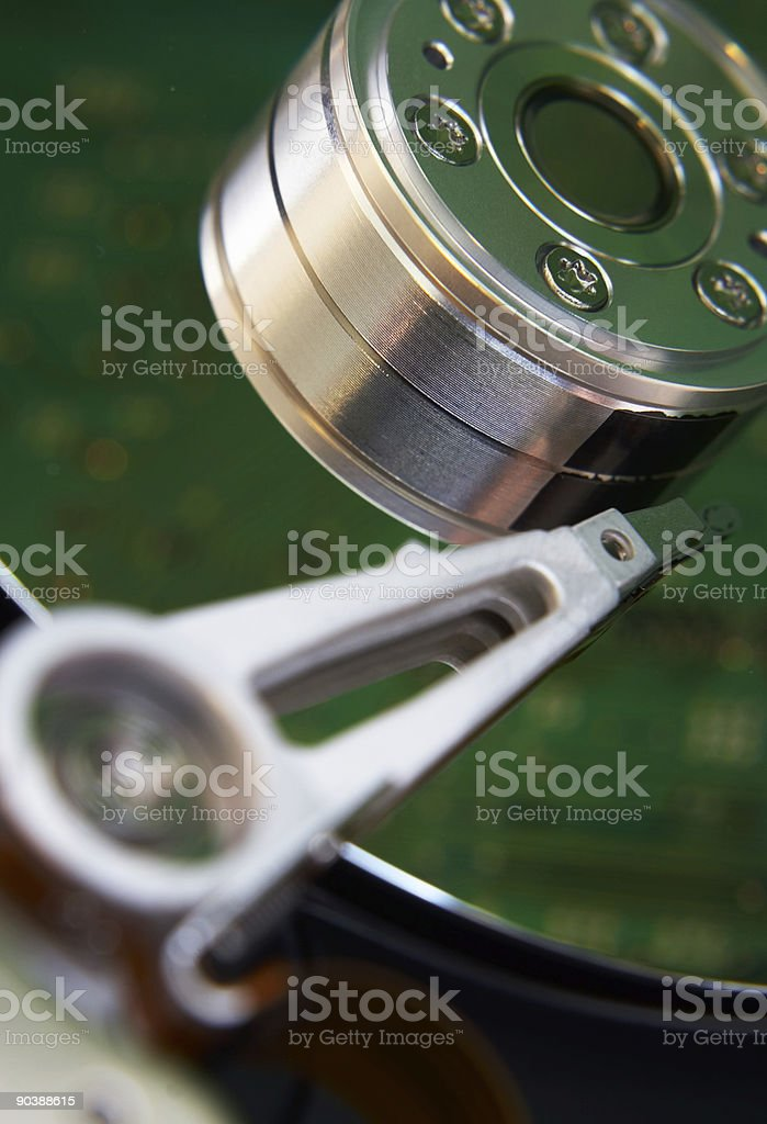 Hard drive fragment royalty-free stock photo