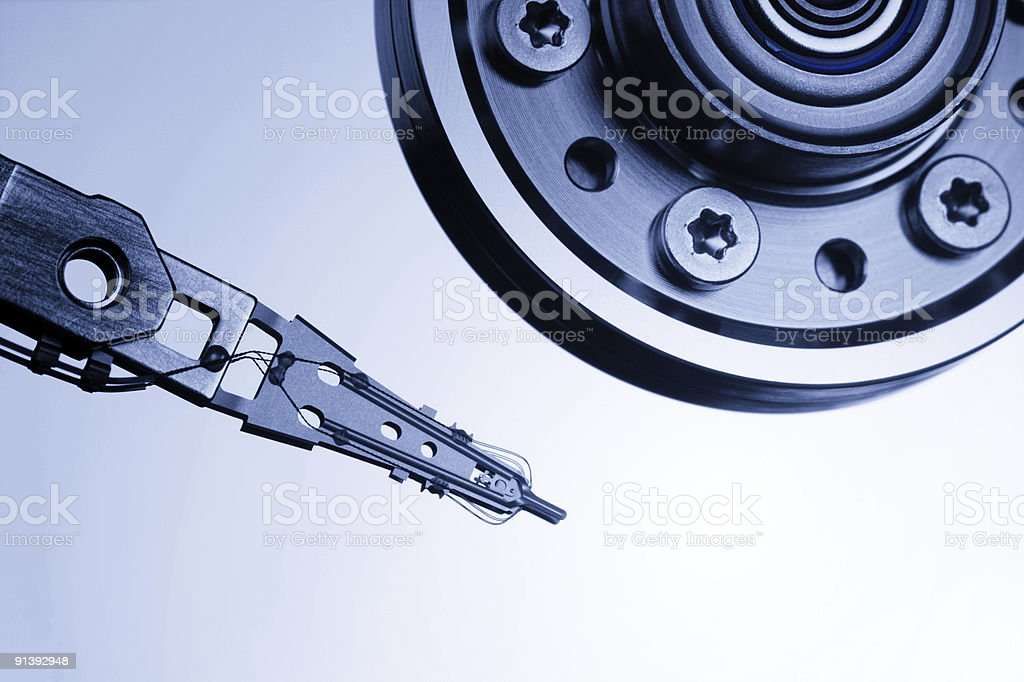 Hard drive interior stock photo