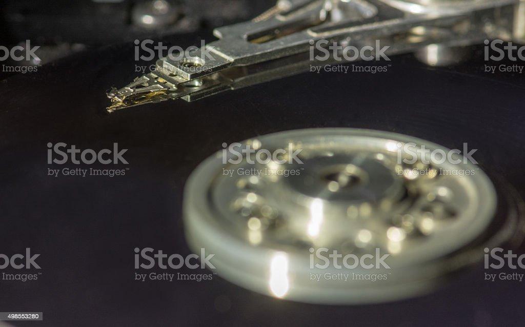 Hard drive internals stock photo