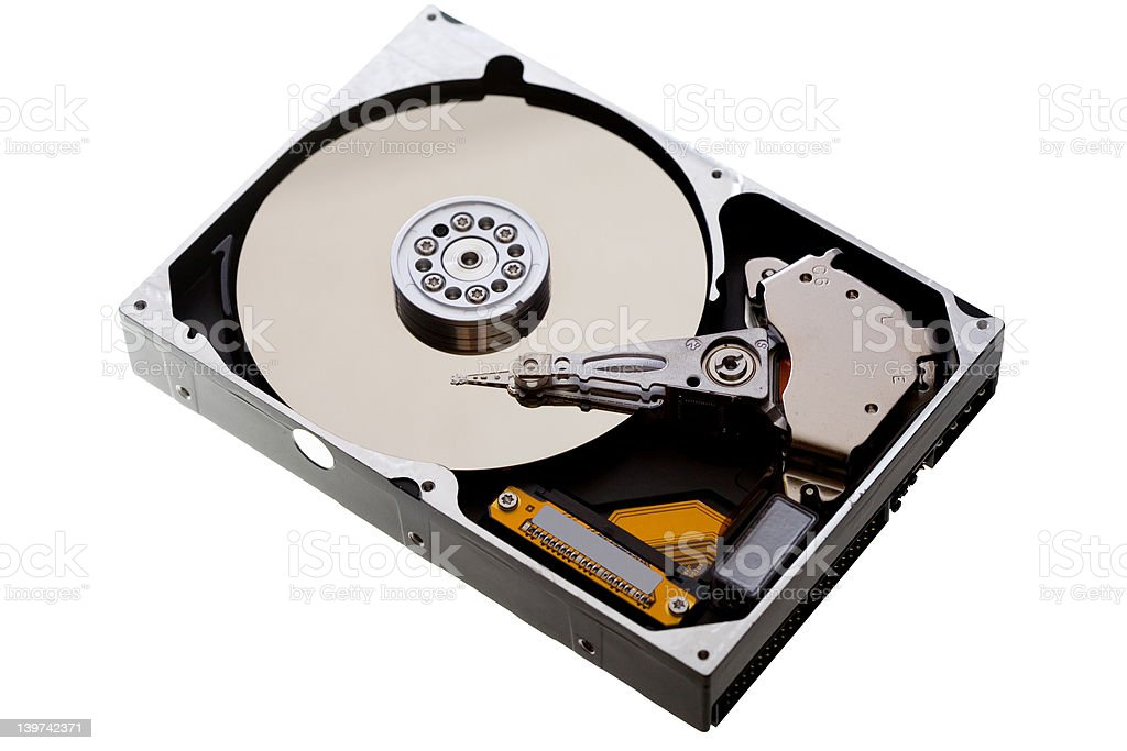 Hard drive isolated royalty-free stock photo