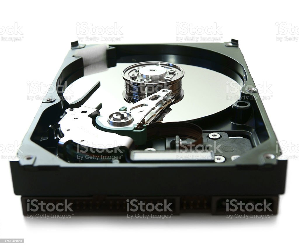 hard drive on a white background. royalty-free stock photo