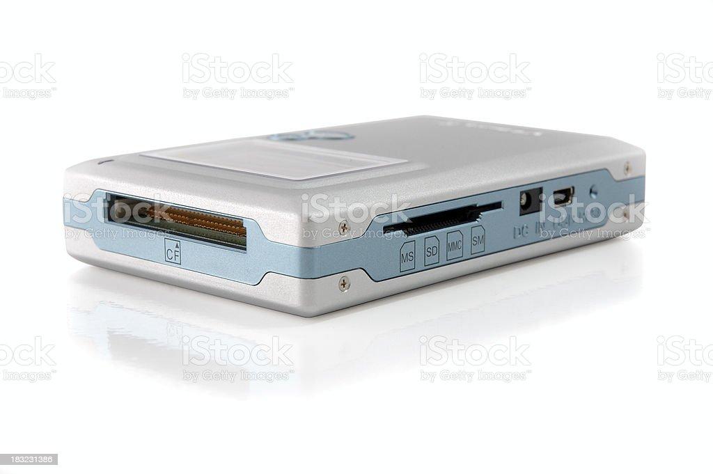 Hard drive - portable data bank royalty-free stock photo