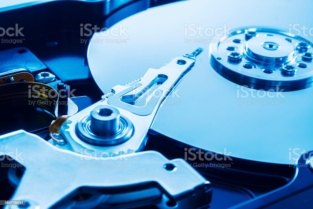 Hard drive series stock photo