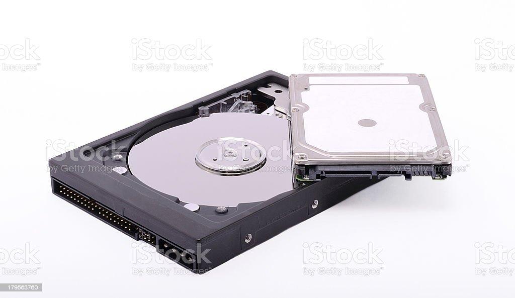 Hard drives royalty-free stock photo