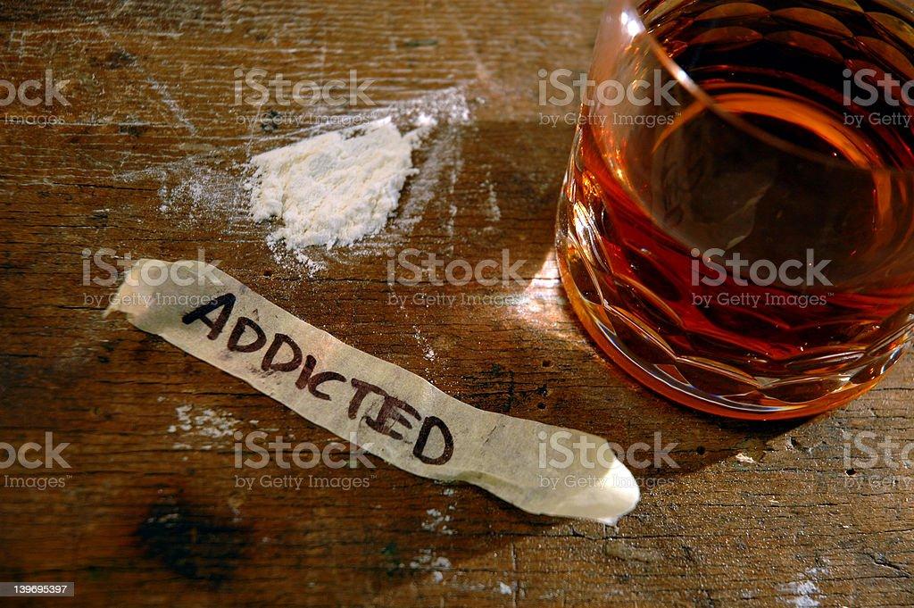 Hard drug addiction royalty-free stock photo