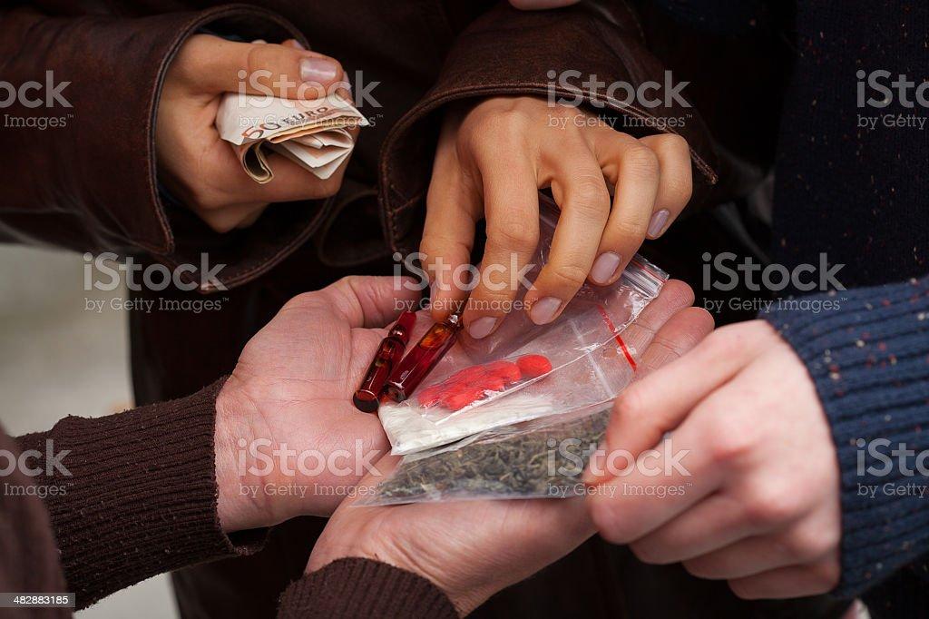 Hard drug dealers stock photo