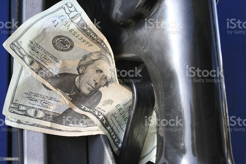 Hard Earned Gas stock photo