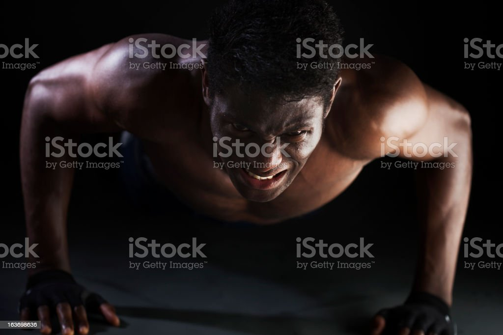 Hard fitness sesion in the gym. royalty-free stock photo