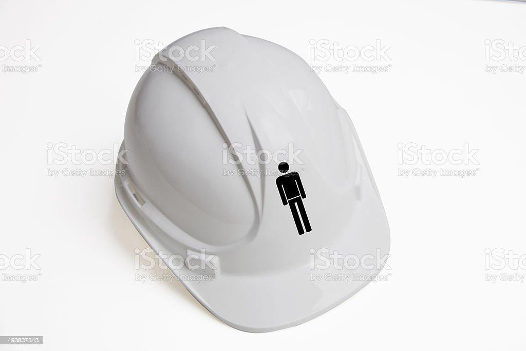 hard hat against white background royalty-free stock photo