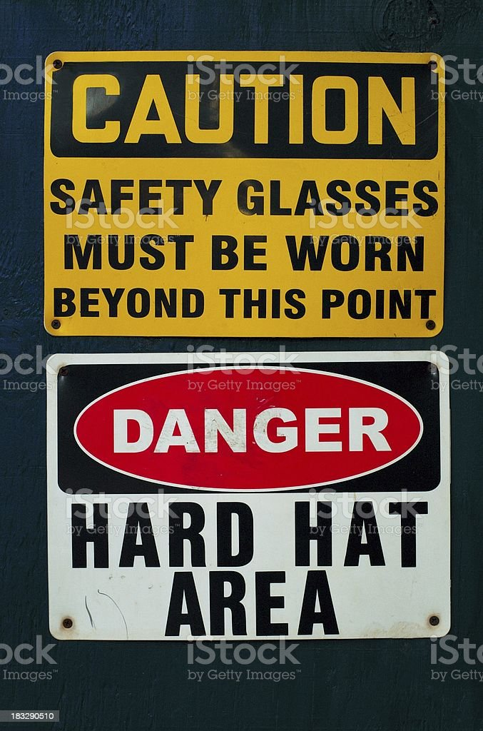 Hard Hat Area royalty-free stock photo