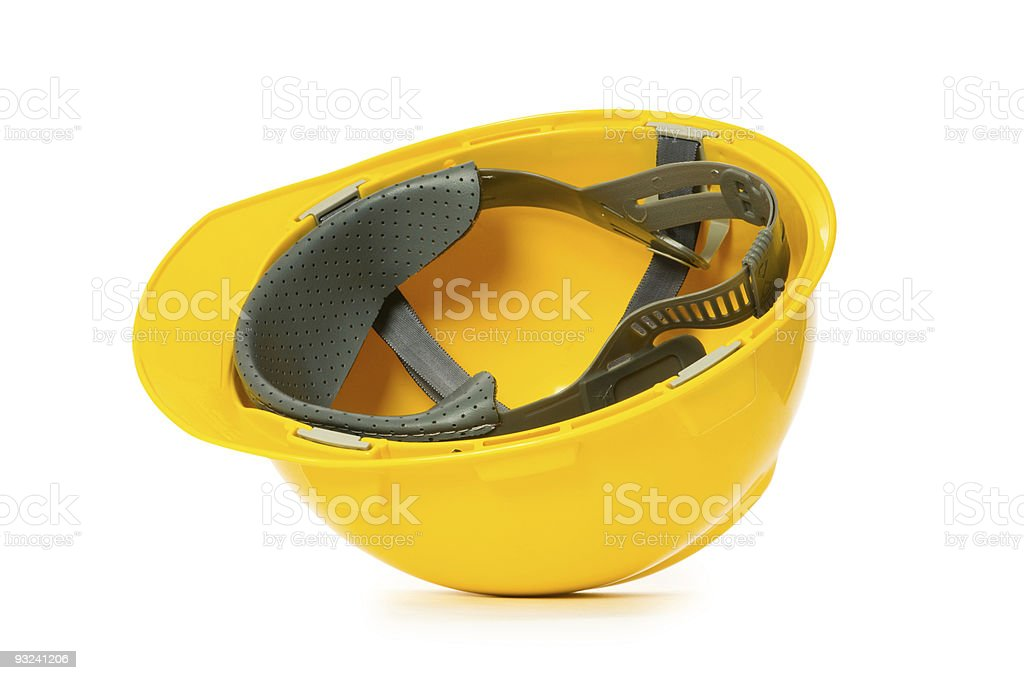 Hard hat isolated on the white background royalty-free stock photo