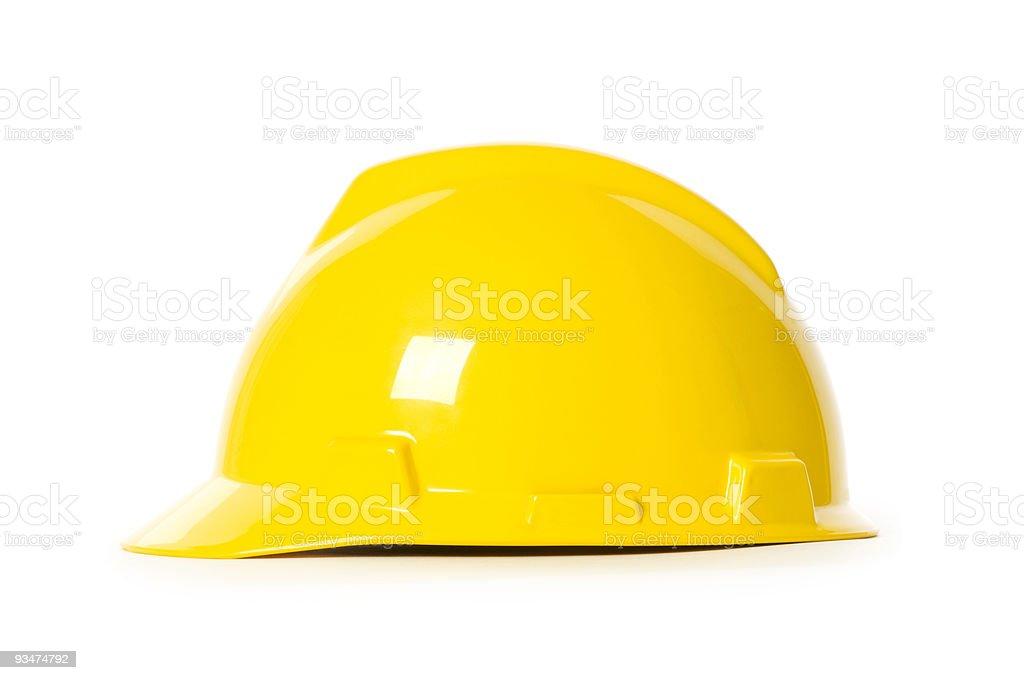 Hard hat isolated on the white background royalty-free stock photo