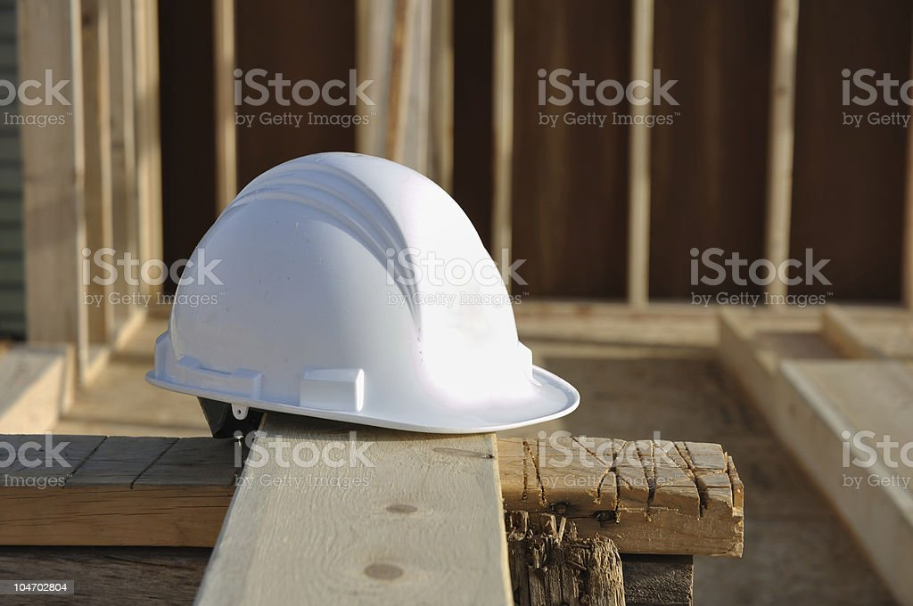 Hard Hat on Board royalty-free stock photo