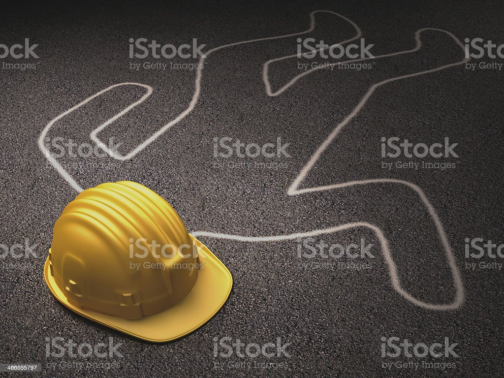 Hard Hat Outline stock photo