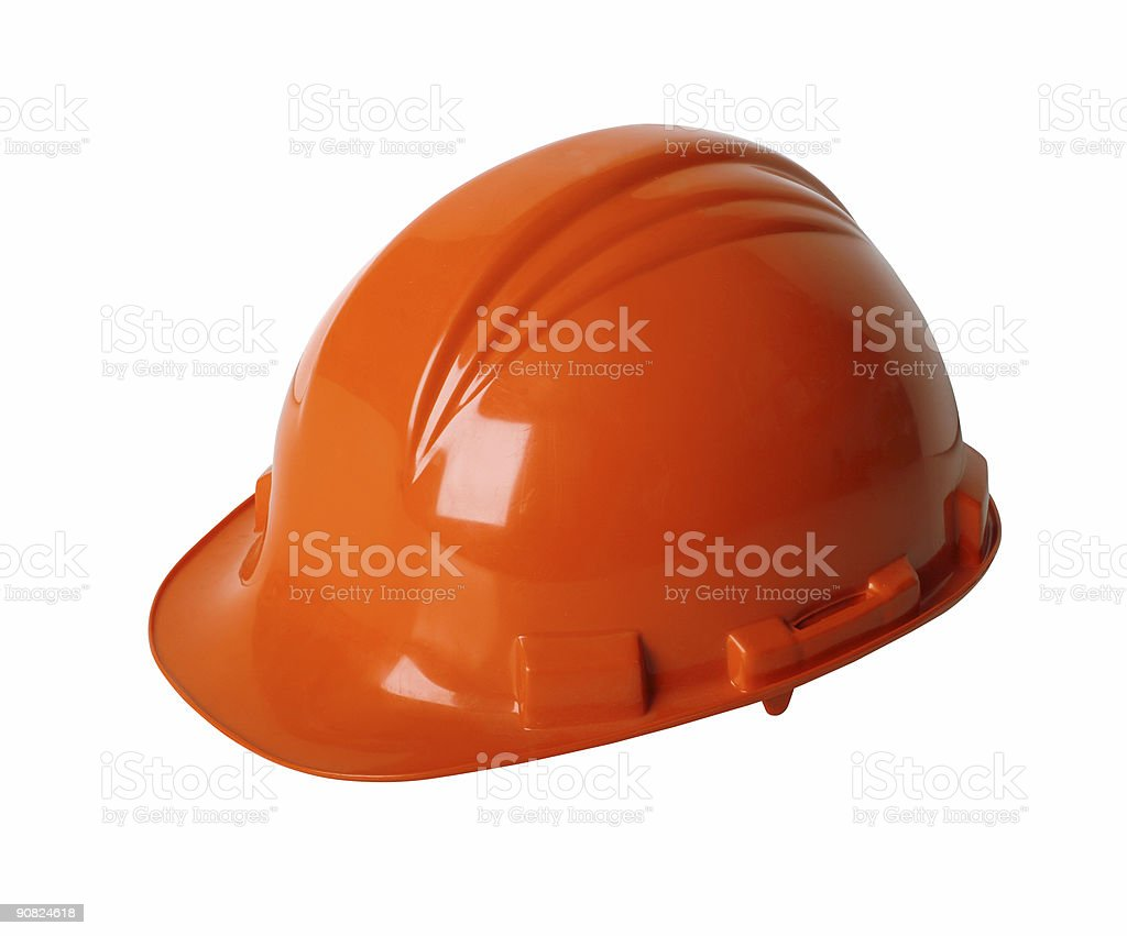 Hard hat with path royalty-free stock photo
