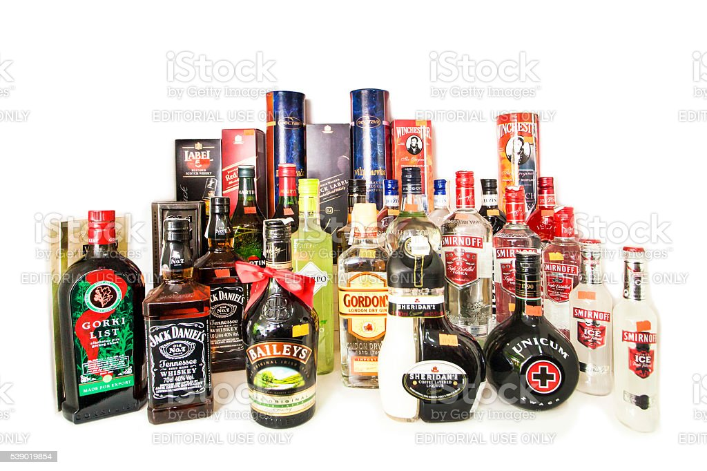 Hard liquor stock photo